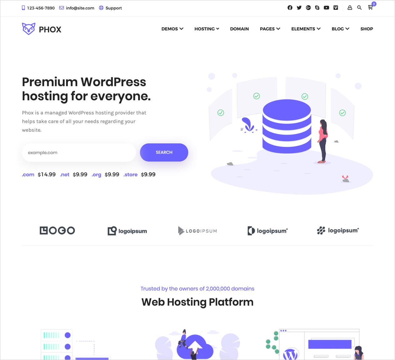 Phox Theme Hosting Nulled