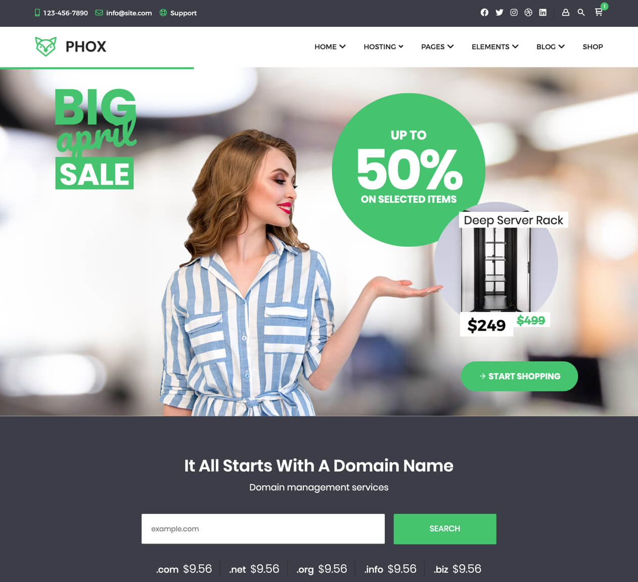 Phox v1.7.2 - Hosting WordPress & WHMCS Theme