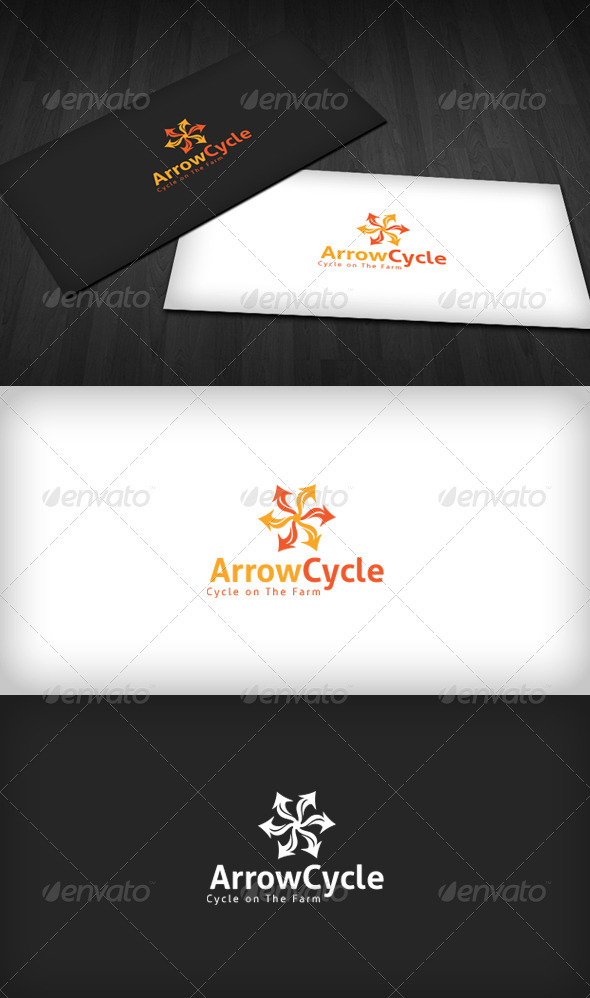 Arrow Cycle Logo - Vector Abstract