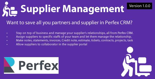 Supplier Management module for Perfex CRM