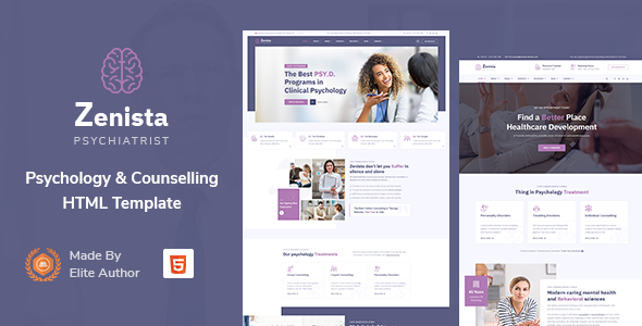 Exceptional Zenista - Psychology & Counseling HTML Template