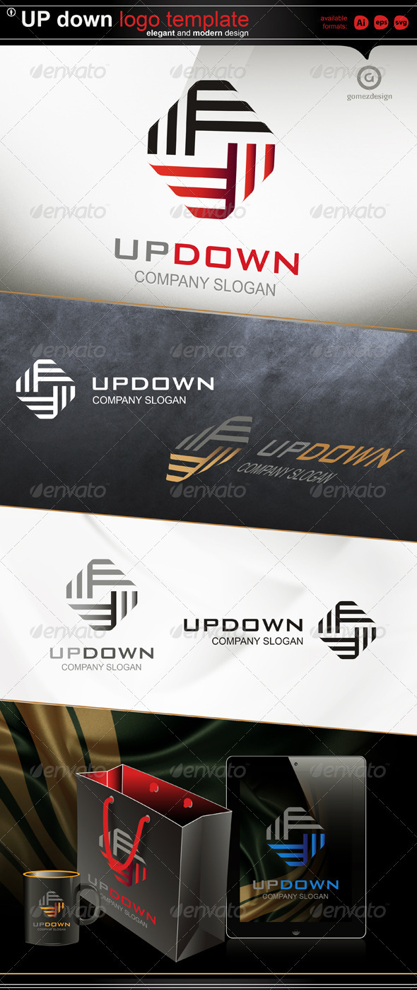 Up Down - Abstract Logo Templates
