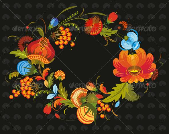 Traditional Flower Wreath - Flowers & Plants Nature