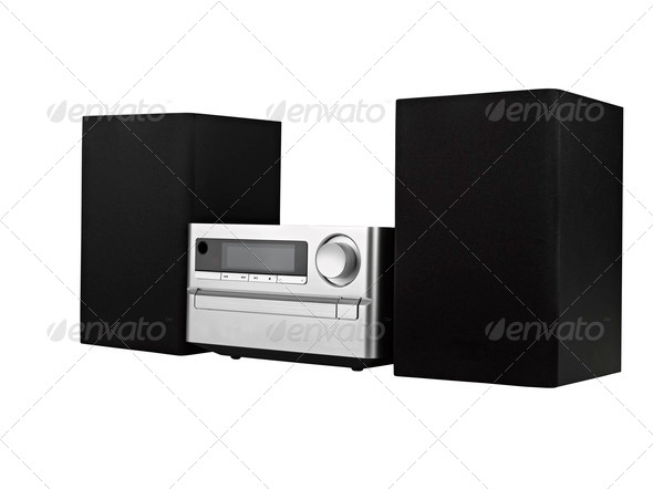 digital usb, cd player against the white background - Stock Photo - Images