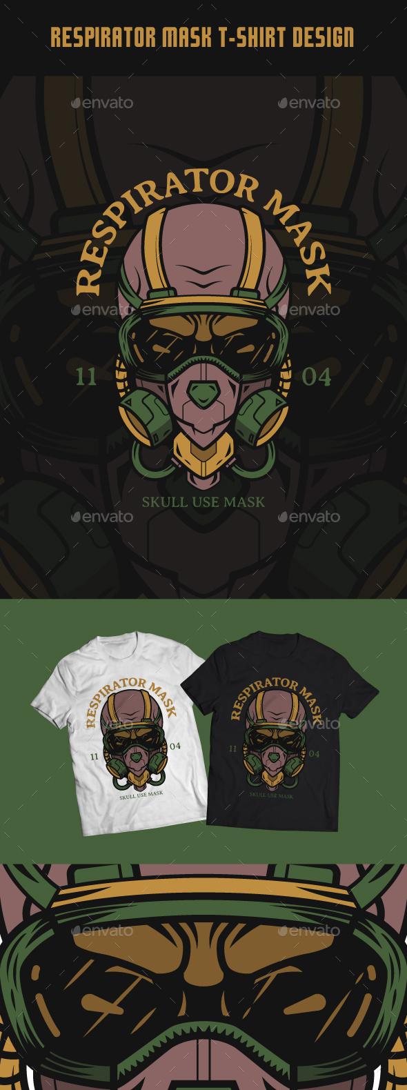 Respirator Mask T-Shirt Design