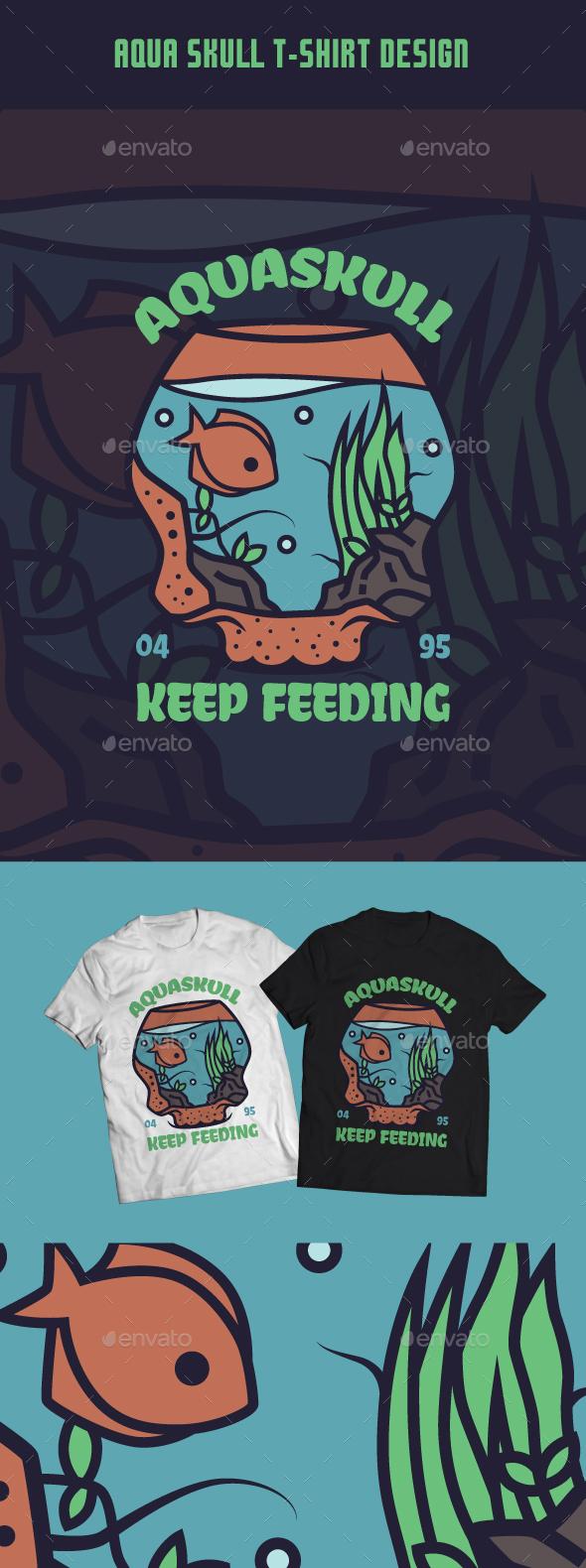 Aquaskull T-Shirt Design