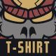 Samurai Skull T-Shirt Design