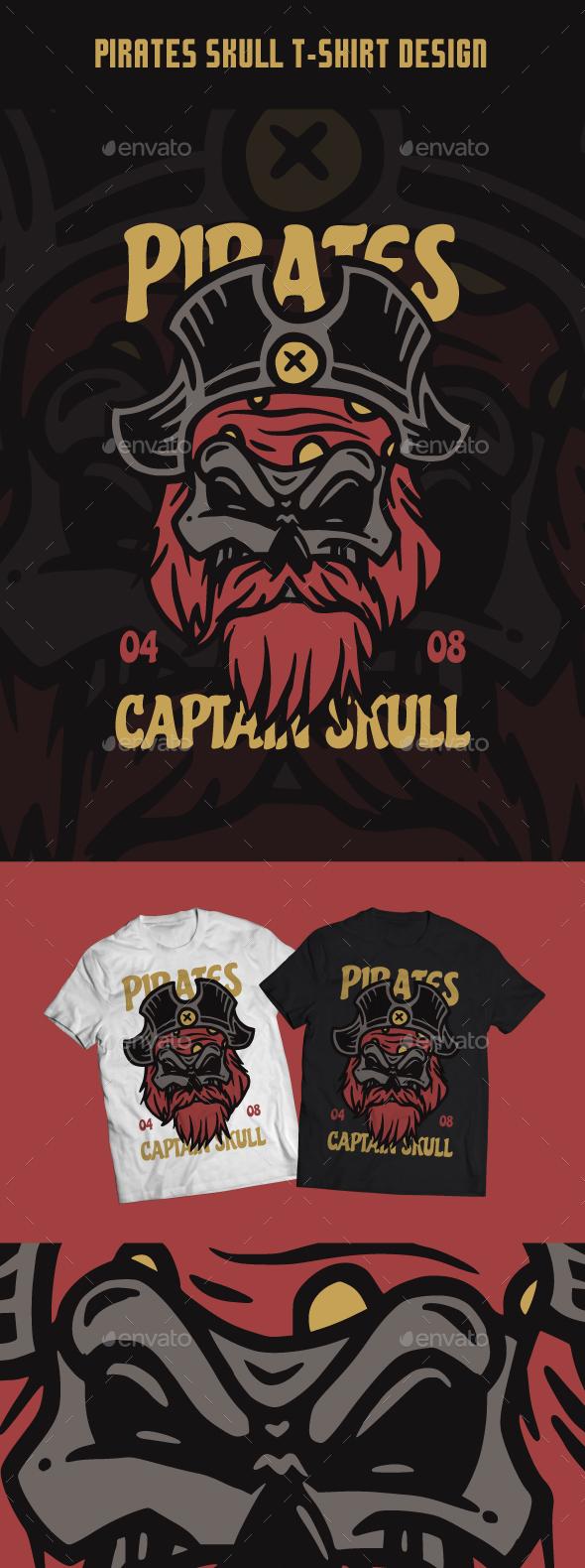 Pirates Skull T-Shirt Design