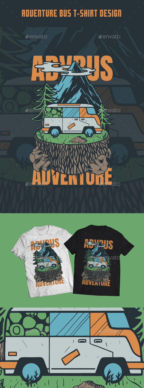 Adventure Bus T-Shirt Design