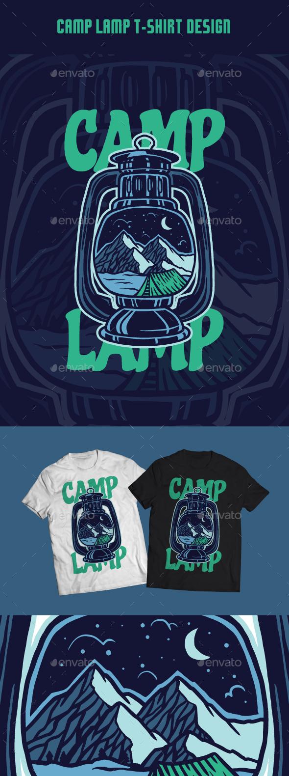 Camp Lamp T-Shirt Design