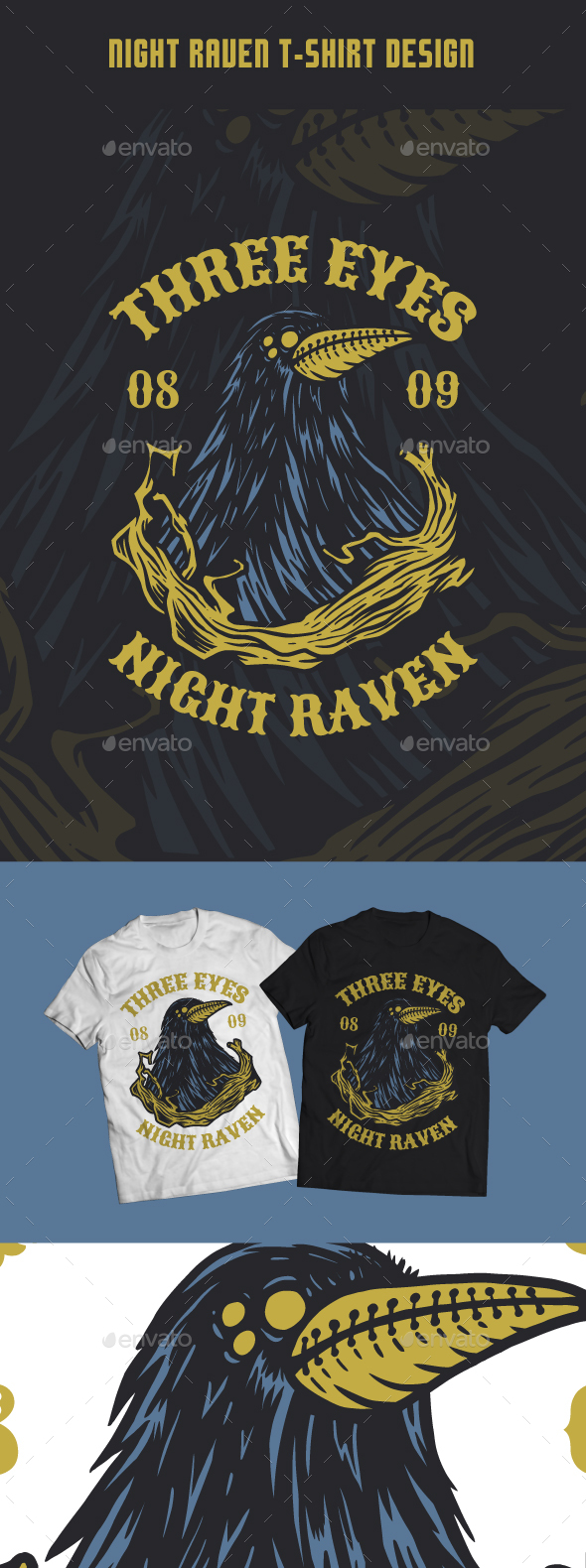 Night Raven T-Shirt Design