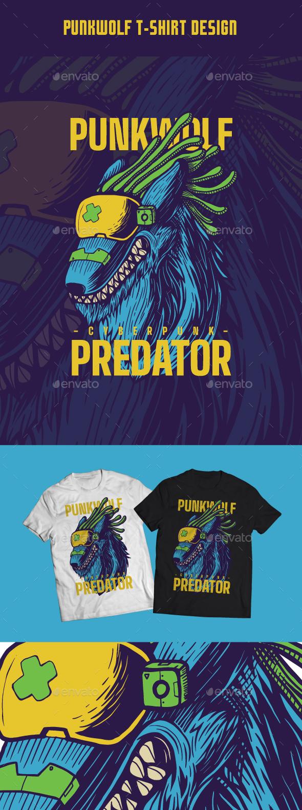 Punkwolf T-Shirt Design