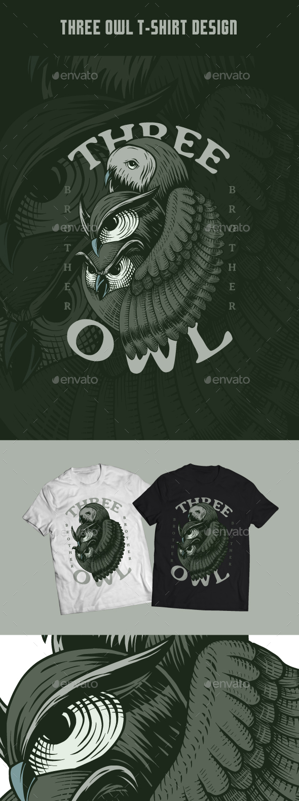 Three Owl T-Shirt Design