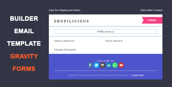 Gravity Forms Email Template Builder