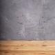wooden desk table or shelf near grey concrete wall - PhotoDune Item for Sale