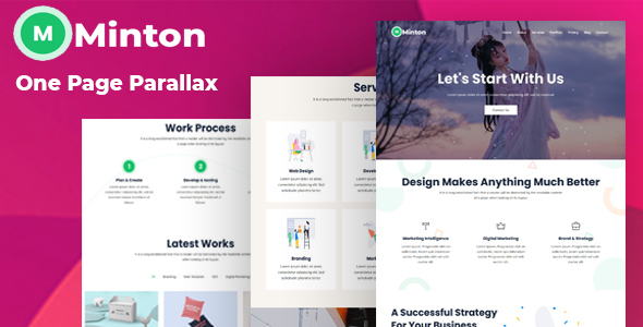 Minton - One Page Parallax Template