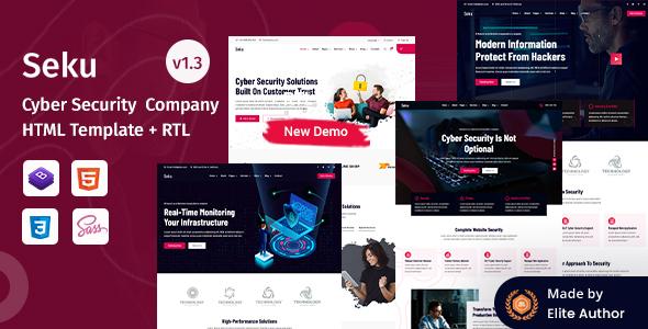 Seku - Cyber Security Company HTML Template