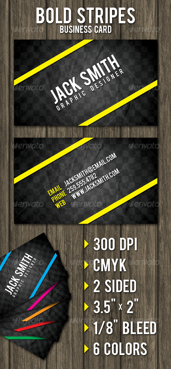 Bold Stripes Business Card - Creative Business Cards