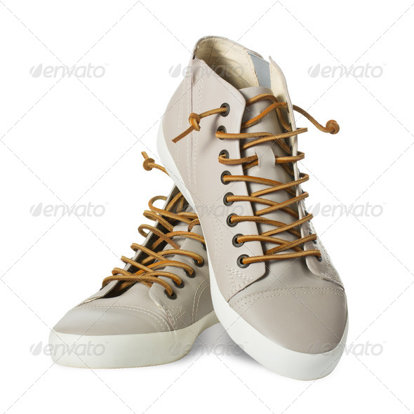 Mens leather shoes - Stock Photo - Images