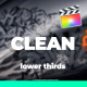 Clean Lower Thirds I Titles For FCPX - VideoHive Item for Sale