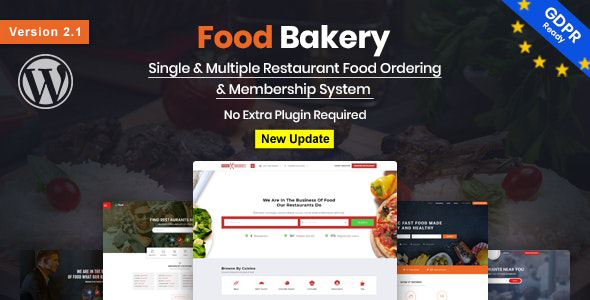 Marvelous FoodBakery | Food Delivery Restaurant Directory WordPress Theme