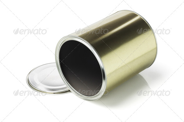Empty Tin Can - Stock Photo - Images