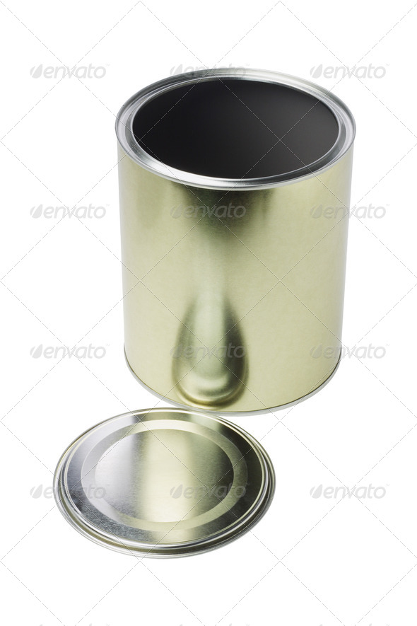 Open Tin Can - Stock Photo - Images