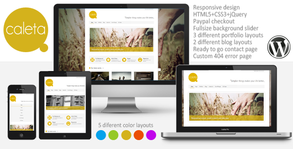 Caleta Responsive Portfolio & Photography - Portfolio Creative