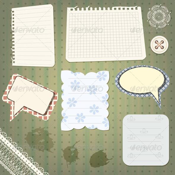 Vector Scrapbook Elements - Backgrounds Decorative