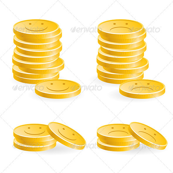 Golden coins - Concepts Business