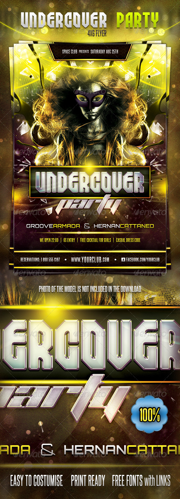 Undercover Party Flyer - Clubs & Parties Events
