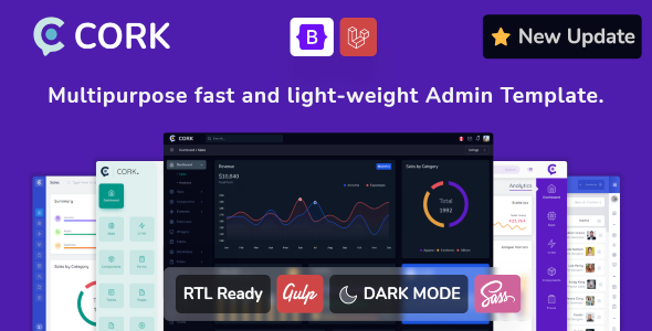 Cork - Responsive Admin Dashboard Template Nulled