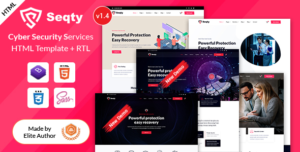 Exceptional Seqty - Cyber Security Services Company HTML Template