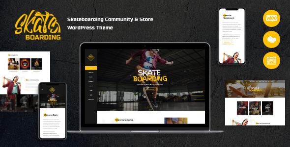Incredible Skateboarding Community & Store WordPress Theme