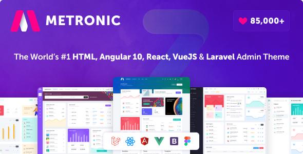 Metronic - Bootstrap 4 HTML, React, Angular 11, VueJS & Laravel Admin Dashboard Theme