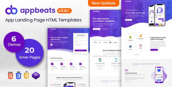 AppBeats - App Landing Page