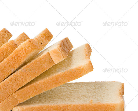 isolated bread on white - Stock Photo - Images