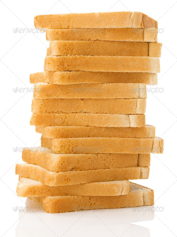 loaf of bread isolated on white - Stock Photo - Images