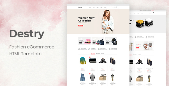 Incredible Destry - Fashion eCommerce HTML Template