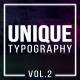 Unique Typography Vol.2 - VideoHive Item for Sale