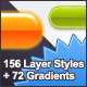 Buttons and Badges Layer Styles plus Gradients - GraphicRiver Item for Sale