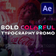 Bold Colorful Typography Promo - VideoHive Item for Sale