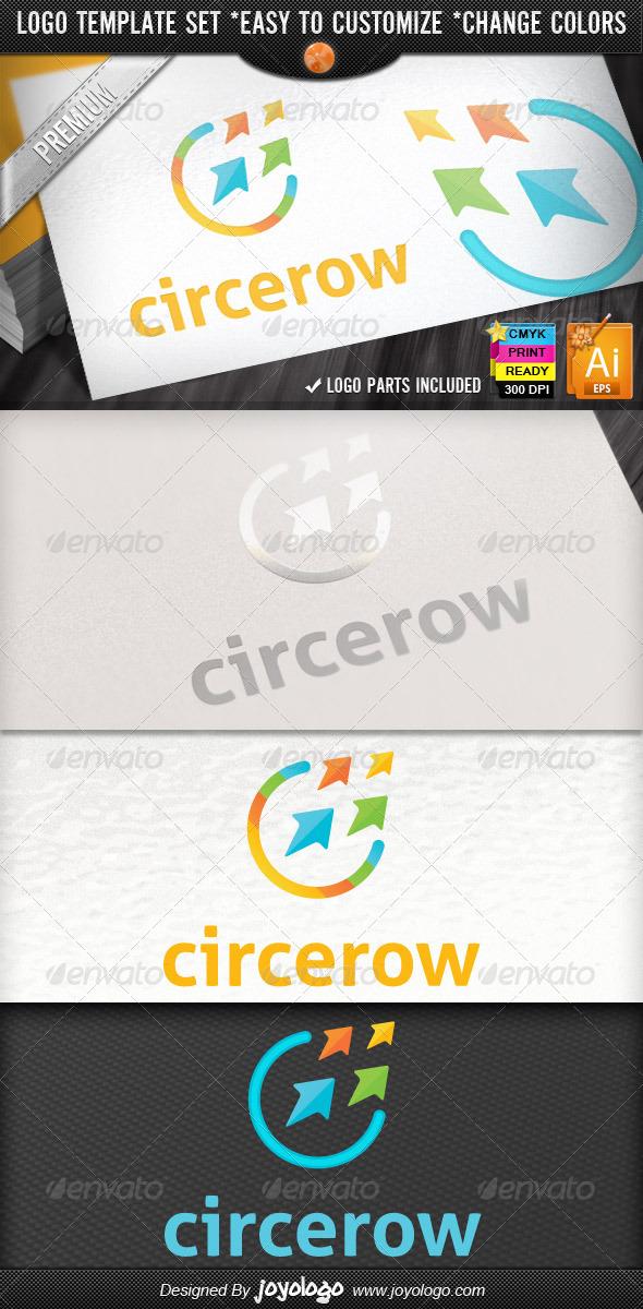 Circle Arrow Business Growth Marketing Logo Design - Symbols Logo Templates