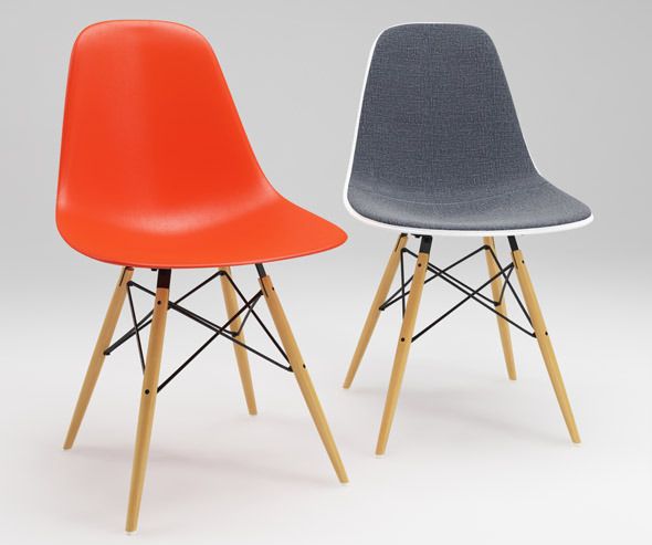 Photoreal Eames Chair - DSW + vray materials - 3DOcean Item for Sale