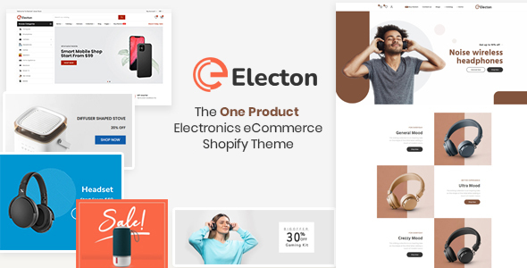 Electon- The One Product Electronics & Gadgets eCommerce Shopify Theme