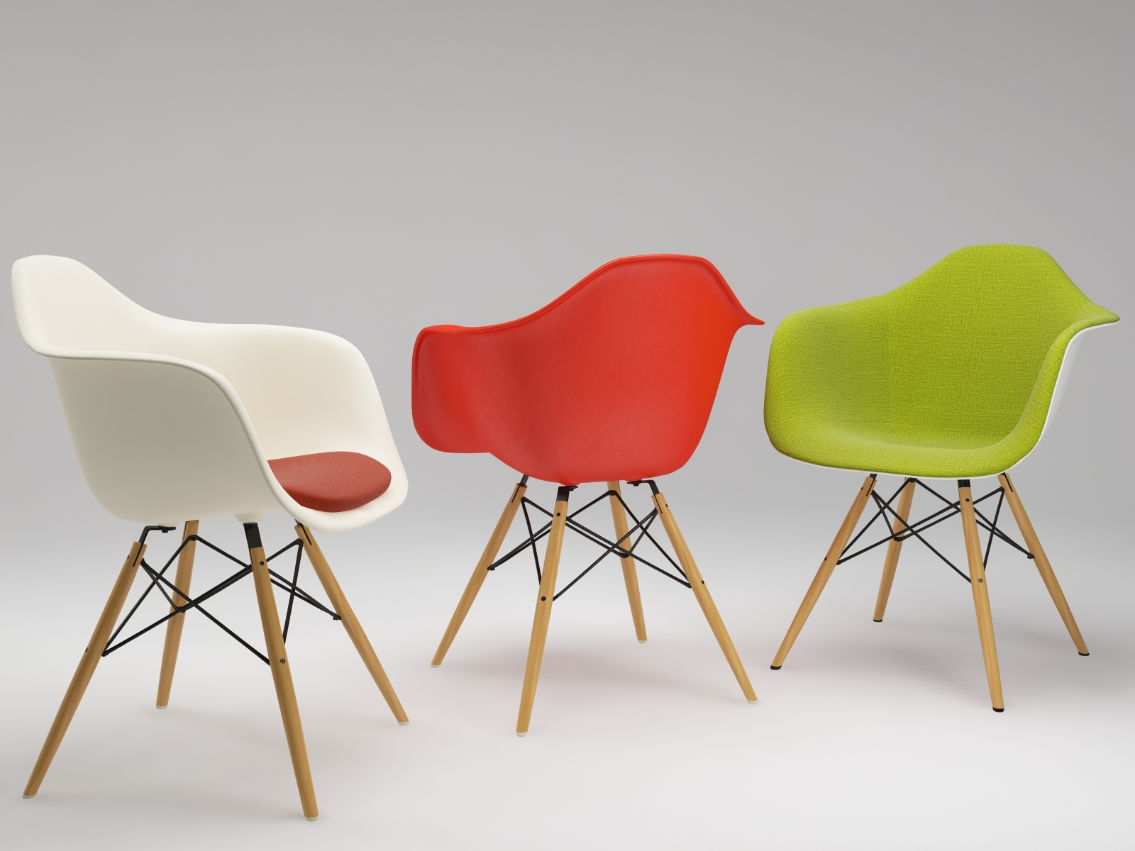 real Eames Chair DAW vray materials by ljunior