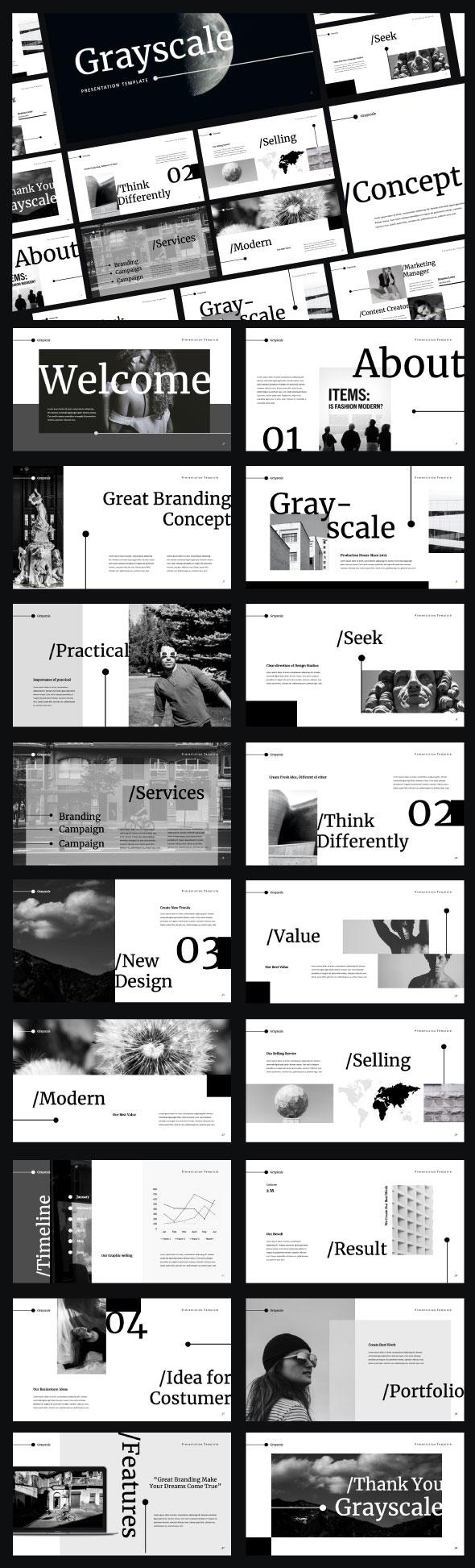 Grayscale Keynote Presentation Template