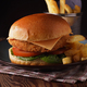 Chicken Fillet Burger and Fries - PhotoDune Item for Sale