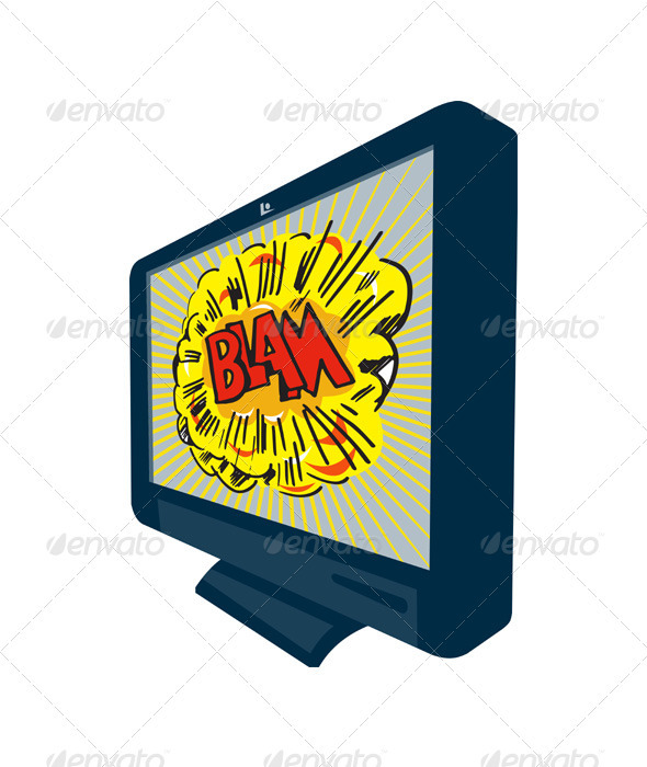 LCD Plasma TV Television Blam - Technology Conceptual