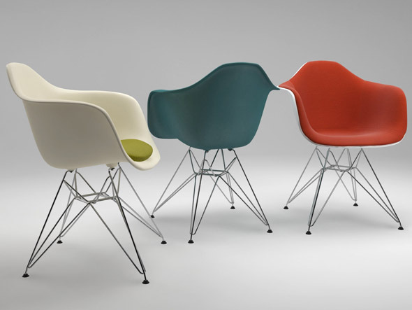Photoreal Eames Chair - DAR + vray materials - 3DOcean Item for Sale